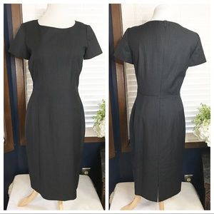 Calvin Klein Gray Pinstripe Dress Size 6
